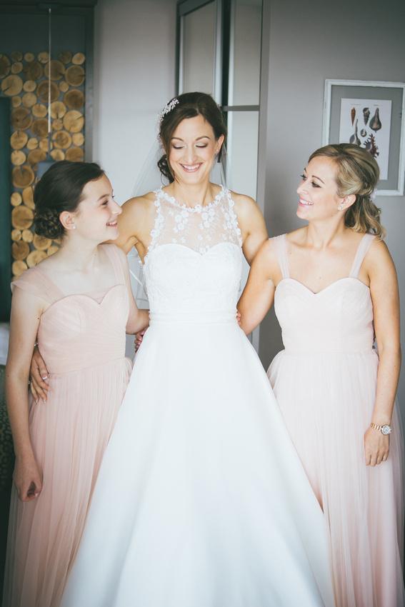 Bridesmaids and Bride Waterside hotel Ayrshire