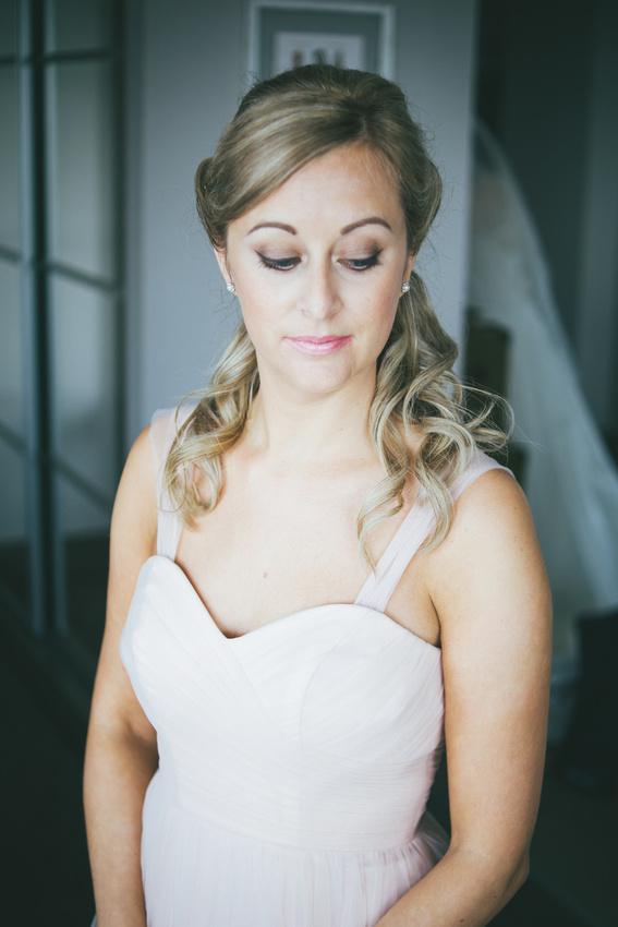 Bridesmaid portrait sister Waterside hotel Ayrshire