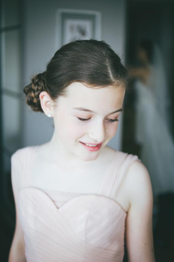 Bridesmaid portrait daughter Waterside hotel Ayrshire