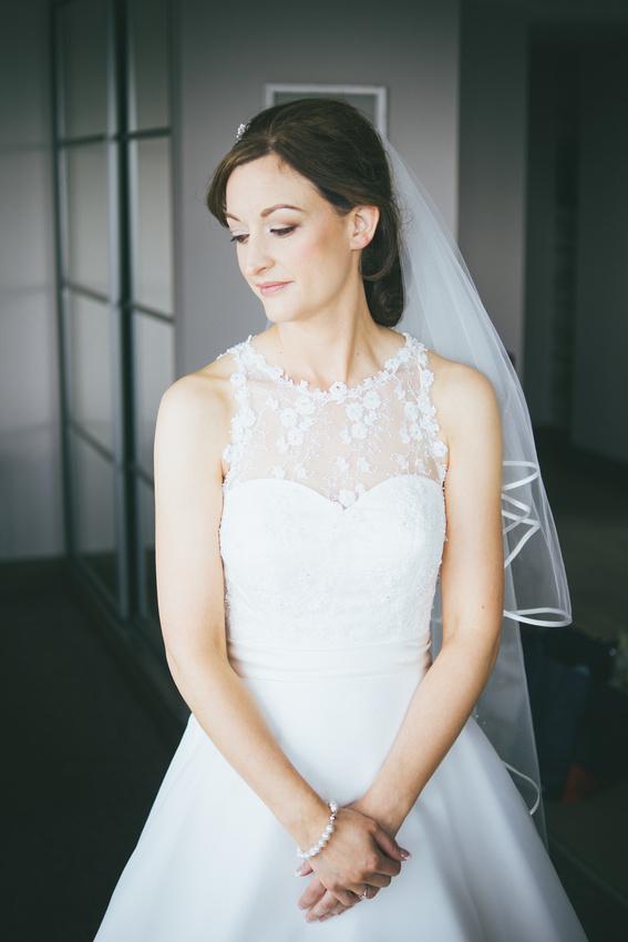 Bridal portrait Waterside hotel Ayrshire
