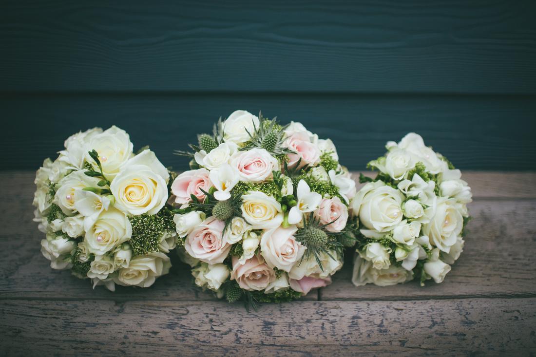 Bridal party flowers Waterside hotel Ayrshire