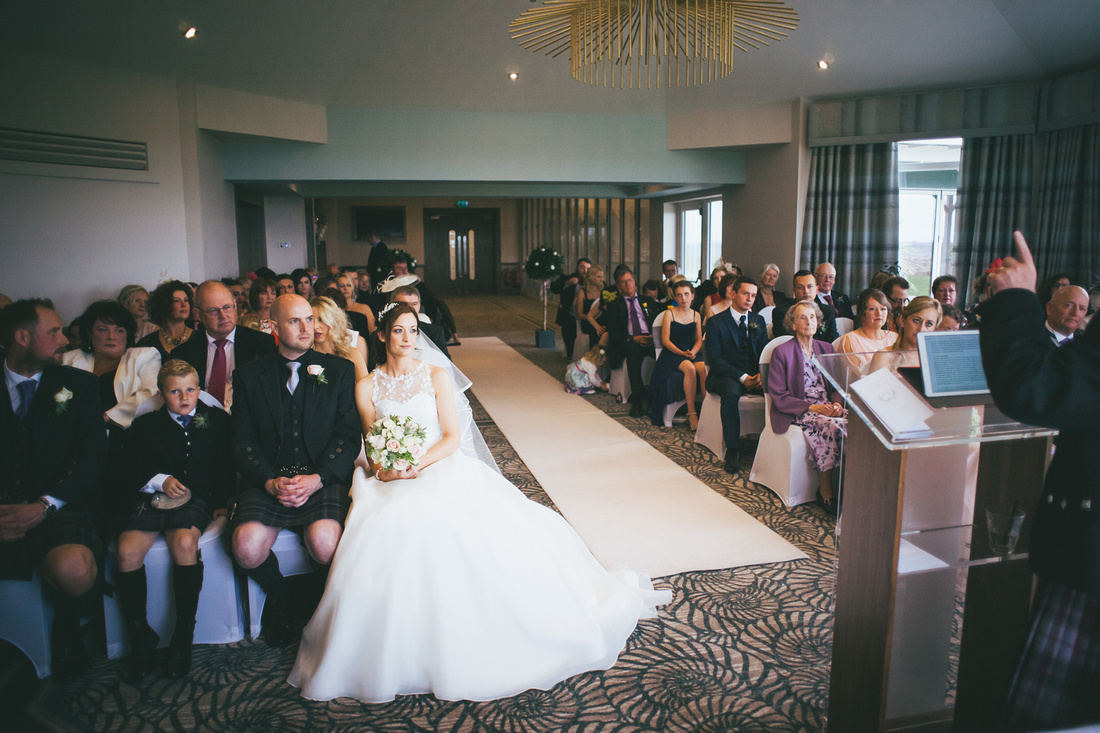 Wedding Ceremony at the Waterside hotel Ayrshire