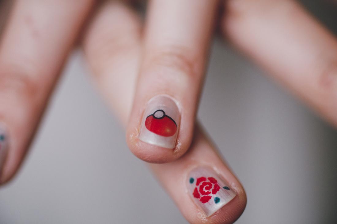 Cottiers Glasgow bride nails pokemon pokeball
