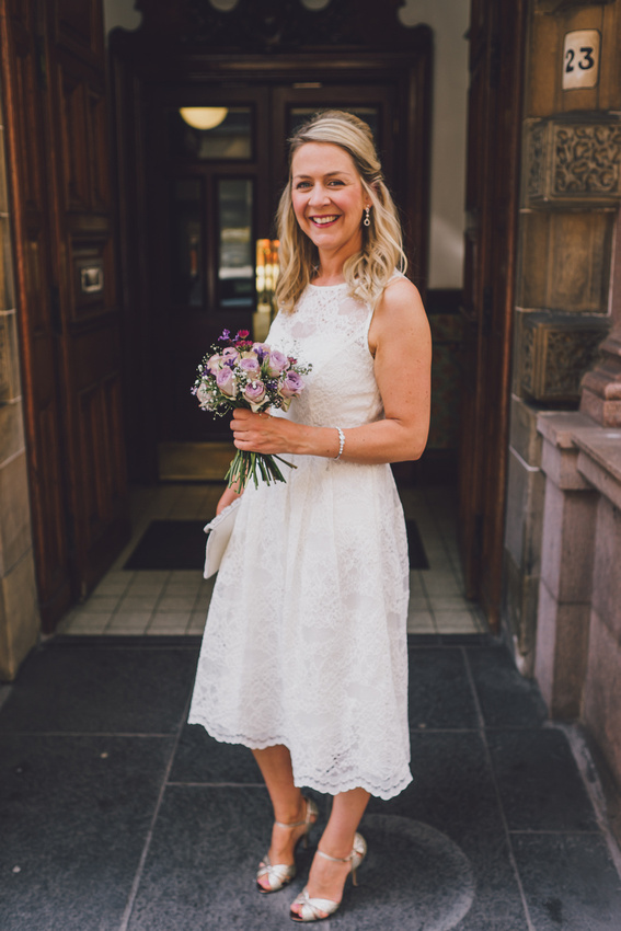 Bride portrait Montrose Street Glasgow