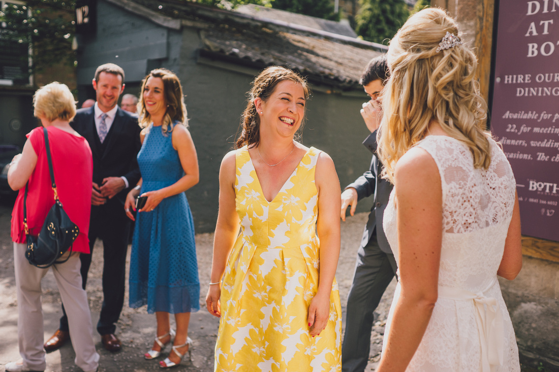 Wedding guests at the Bothy Glasgow