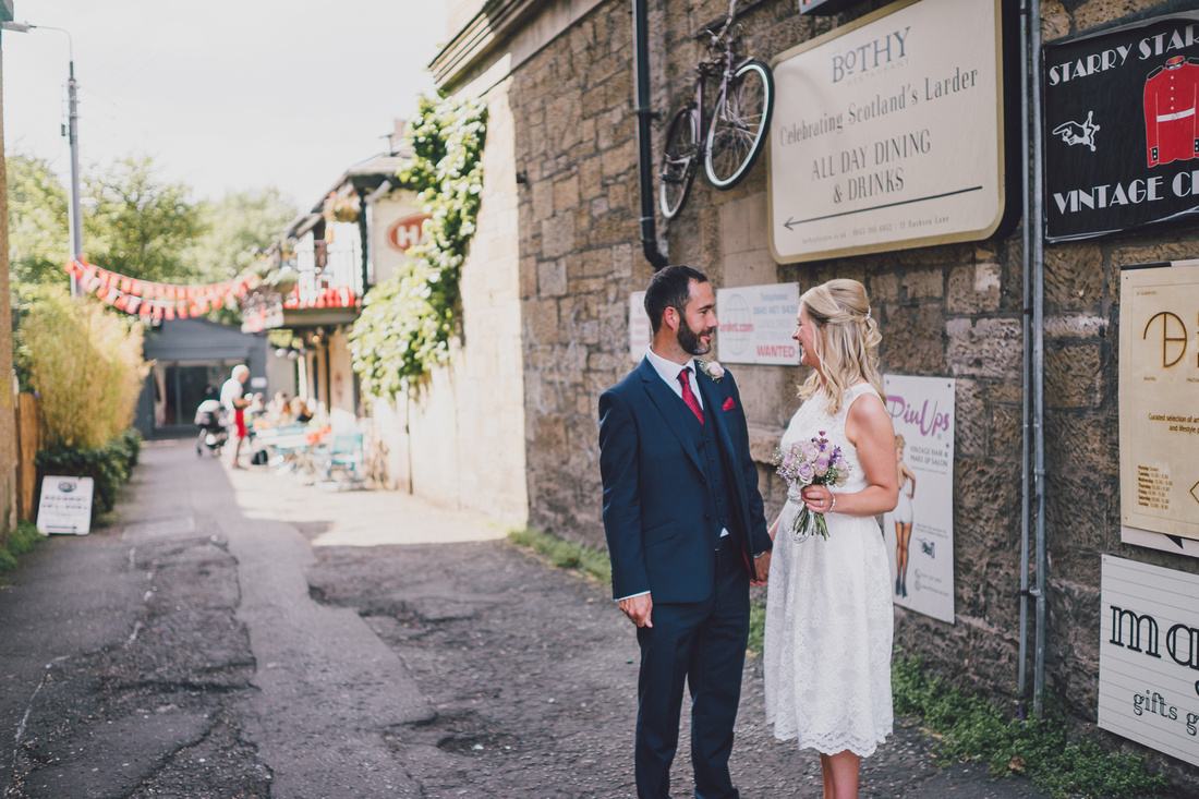 Wedding Couple time lane Bothy Glasgow Cool Signs
