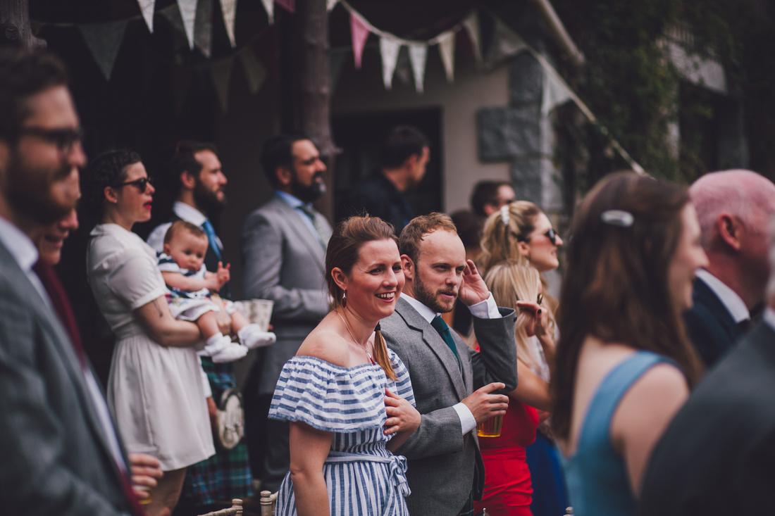 Guests at Mar Lodge Wedding