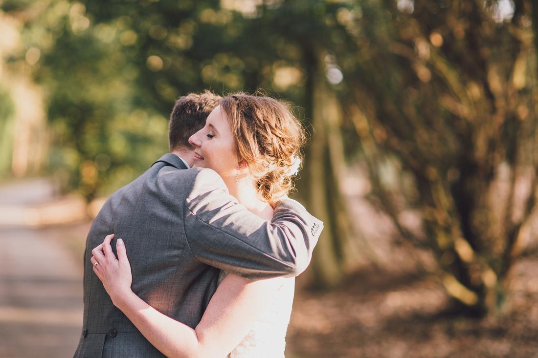 Woodland couple shoot cuddle