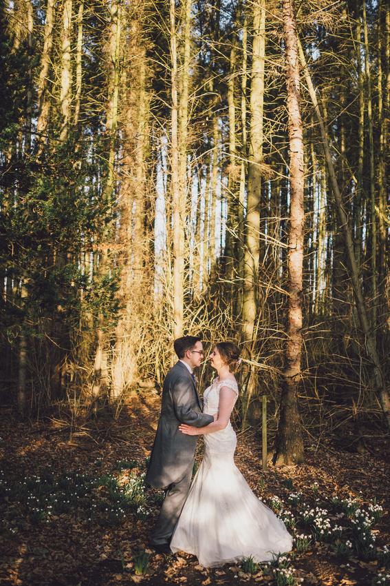 Trees wedding couple woodlands