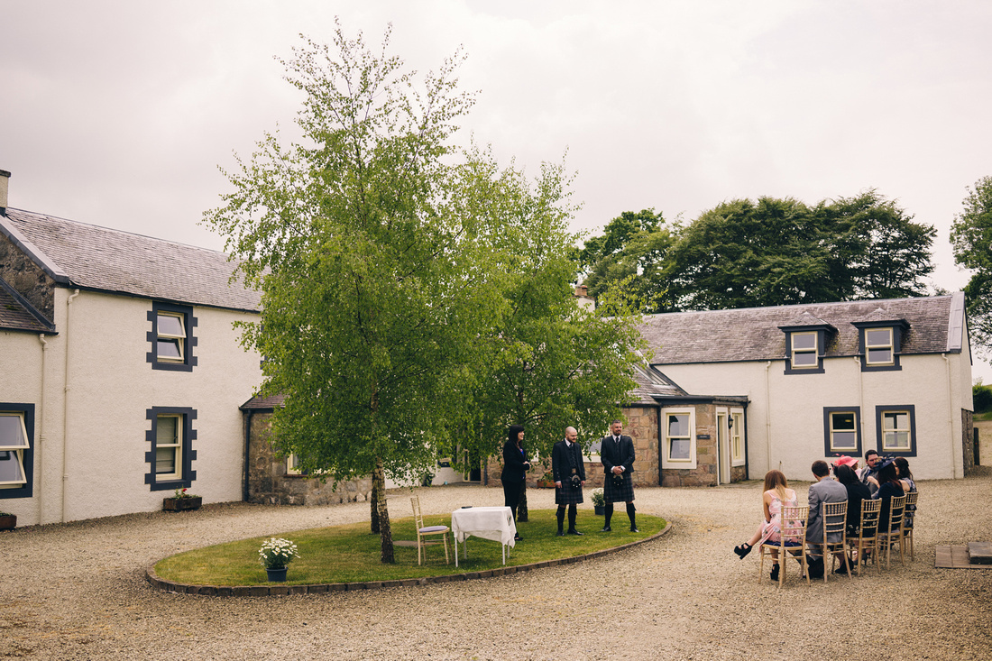 Barwheys Farm Outside Courtyard Wedding