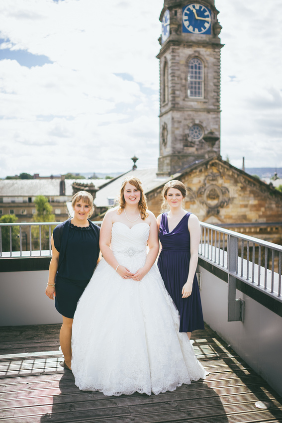 Bride and Bridesmaids at St Andrew's on the Square Penthouse Apartment