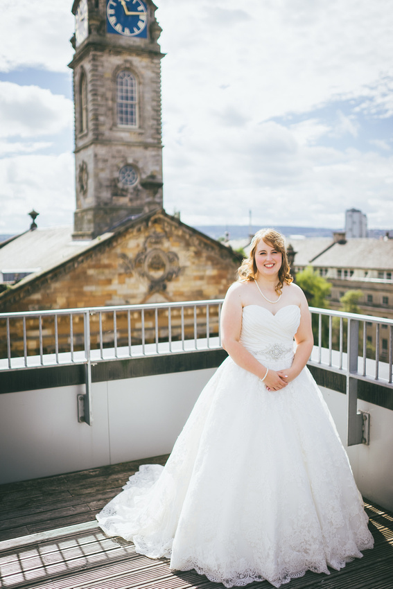 Bride at St Andrew's on the Square Penthouse Apartment