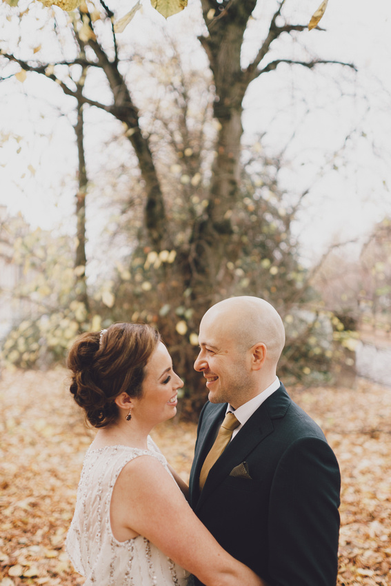 Great Western Road Wedding Couple Shoot Autumn leaves