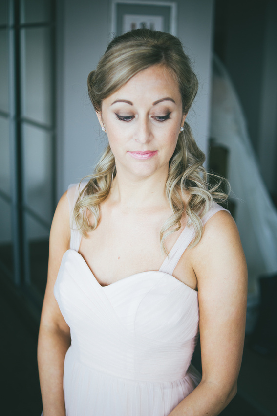 Bridesmaid portrait sister Waterside hotel Ayrshire