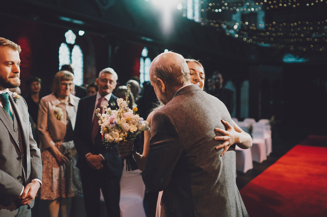 Cottiers Glasgow father giving bride away