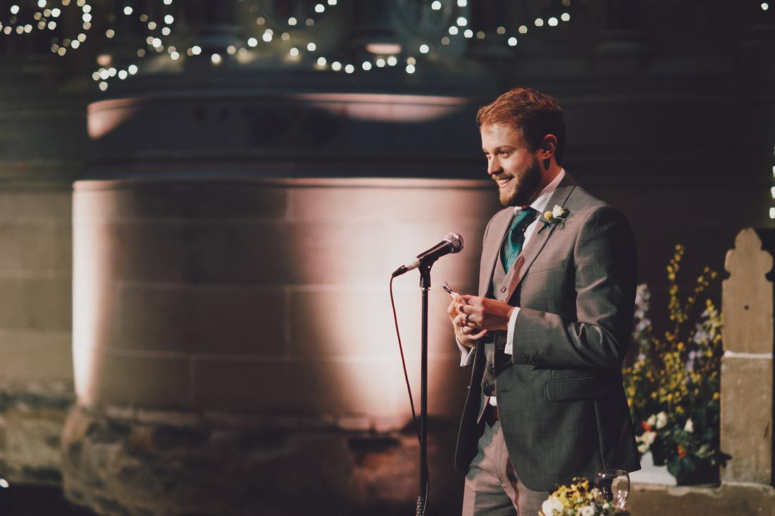Cottiers Glasgow groom speech