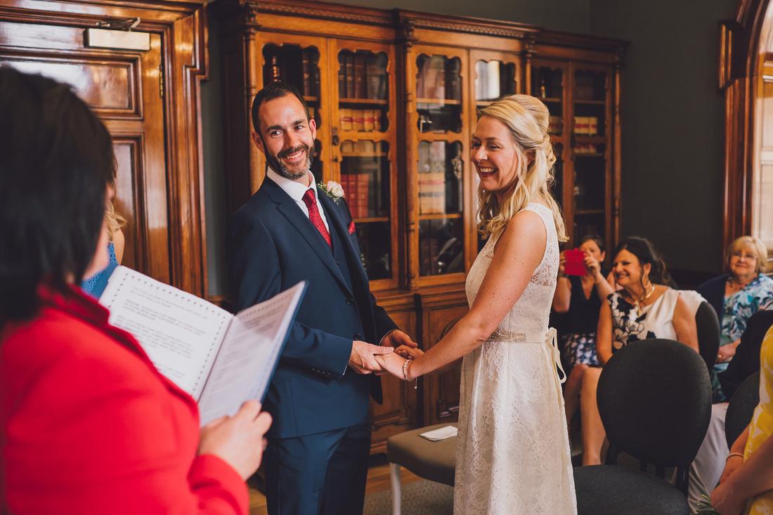 Happy couple ceremony