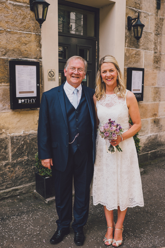 Father and Bride at the Bothy Glasgow