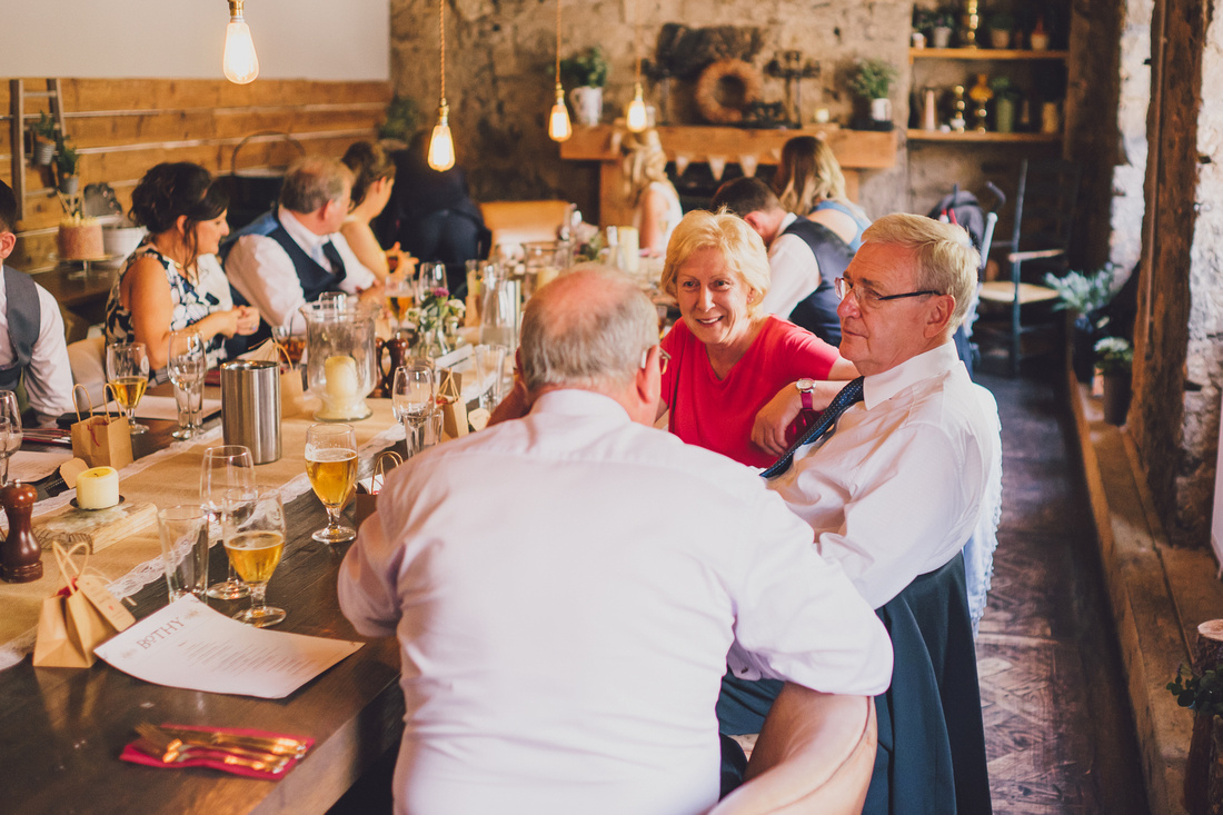 Inside the Bothy Glasgow wedding guests