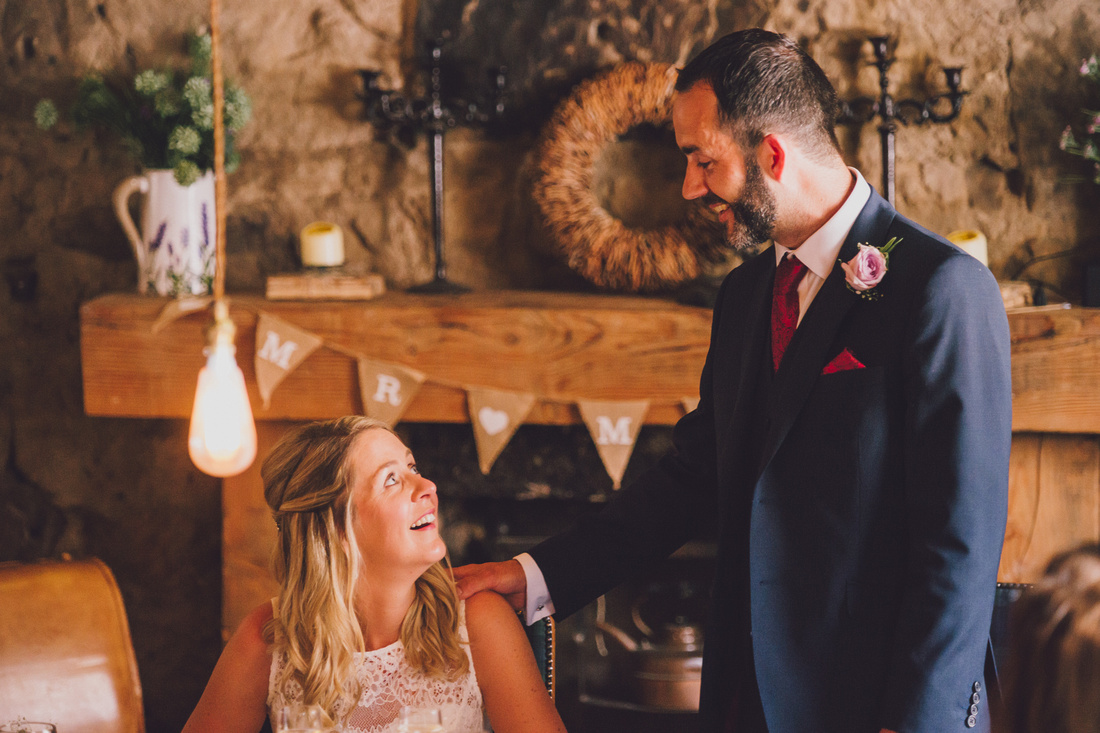 Grooms speech looking at Bride