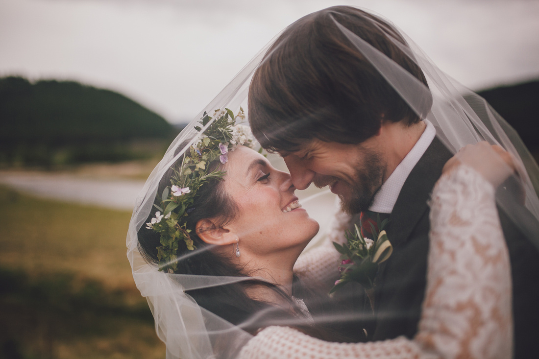 The kiss with a Mar Lodge Estate view