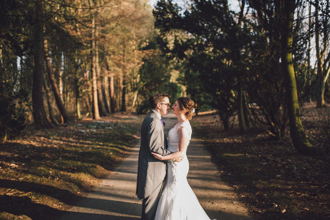 Woodland couple shoot path