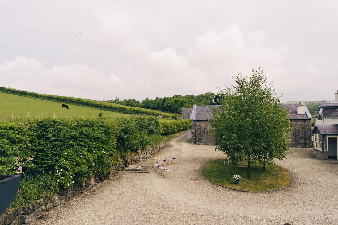 View of courtyard at Barwheys Farm