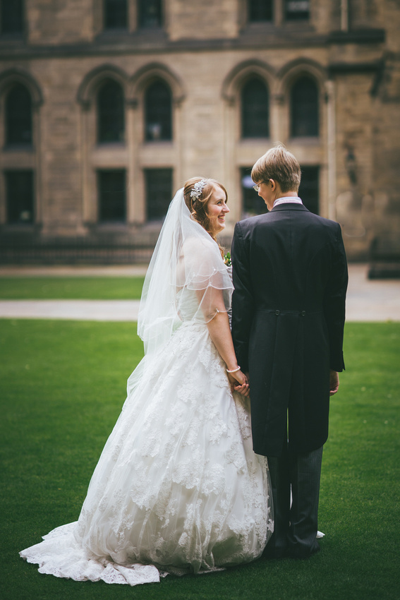 Wedding couple time at Glasgow University