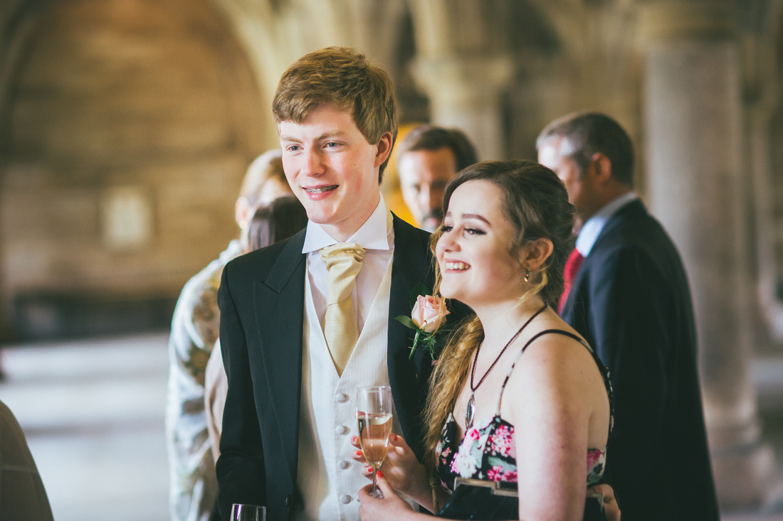 Best Man at the Glasgow University Cloisters