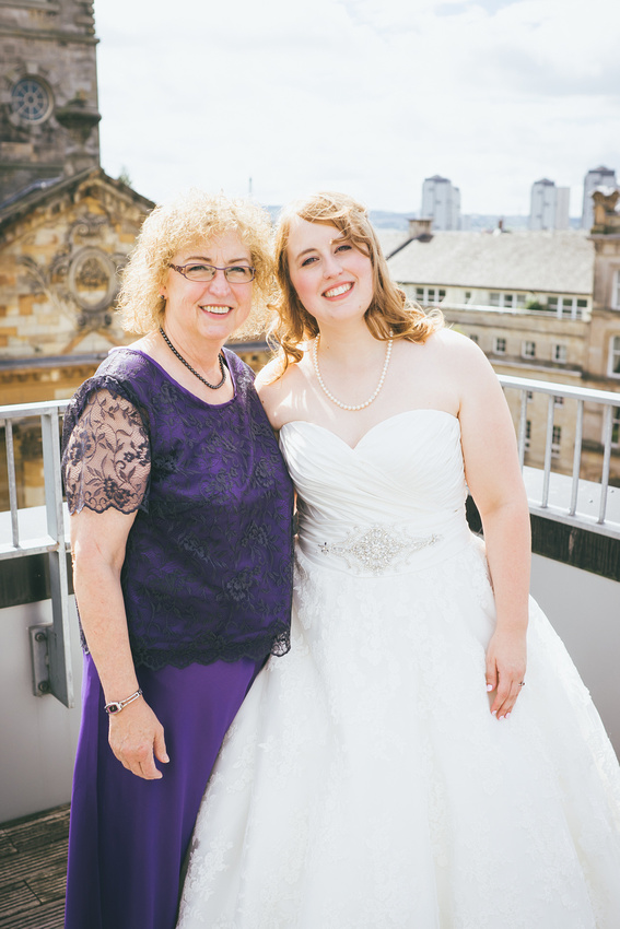 Bride and Mum at St Andrew's on the Square Penthouse Apartment