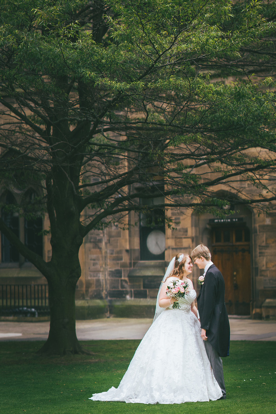 Couple shoot at Glasgow University