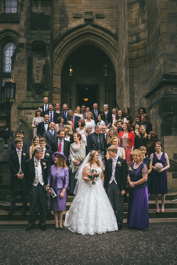 Big group photo at Glasgow University Chapel