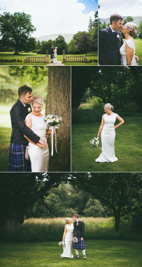 Culcreuch Castle Wedding Couple Time Photographs