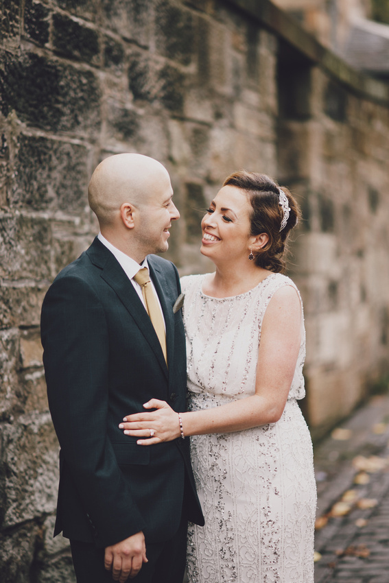 Hotel du Vin Glasgow wedding couple