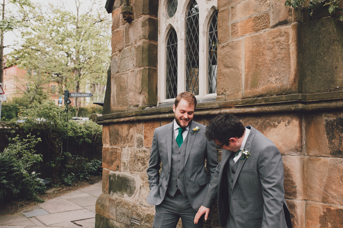 Cottiers Glasgow Best Man and Groom