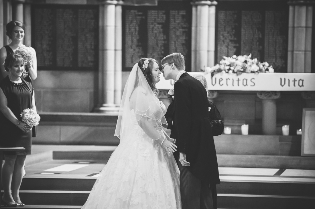 First kiss at Glasgow University Chapel